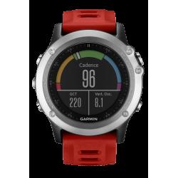 Спортивные часы FENIX 3 cеребряный с красным ремешком